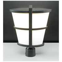 PLC Lighting Alegria Outdoor Post Mount in Oil Rubbed Bronze with Matte Opal Glass 31918-ORB