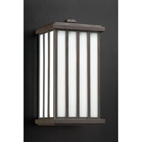 PLC Lighting Samba Outdoor Wall Sconce in Oil Rubbed Bronze with Matte Opal Glass 32024-ORB