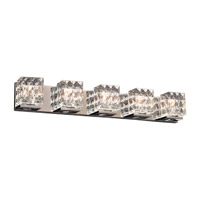 Blour 5 Light 35 inch Polished Chrome Bath Light Wall Light