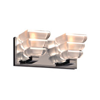 Titan 2 Light 11 inch Polished Chrome Bath Light Wall Light