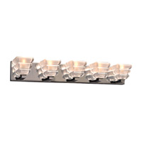 PLC Lighting Titan 5 Light Bath Light in Polished Chrome 32055PC