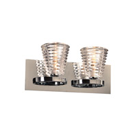 PLC Lighting Enzis 2 Light Wall Sconce in Polished Chrome 32062PC