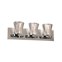PLC Lighting Enzis 3 Light Wall Sconce in Polished Chrome 32063PC