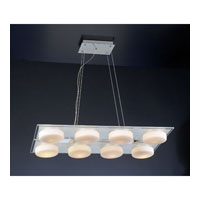 PLC Lighting La Nouba Pendant in Polished Chrome with Matte Opal Glass 3318-PC
