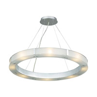 PLC Lighting Silar Pendant in Aluminum with Frost Glass 3366-AL