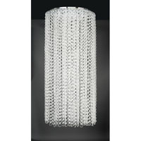 PLC Lighting Cyclops Chandelier in Polished Chrome with Clear Glass 34100-PC