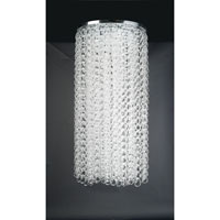 PLC Lighting Cyclops Chandelier in Polished Chrome with Clear Glass 34102-PC
