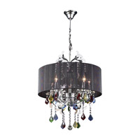PLC Lighting Torcello 5 Light Chandelier in Polished Chrome 34112-PC