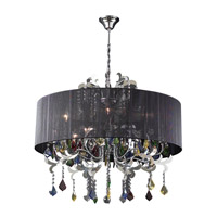 PLC Lighting Torcello 8 Light Chandelier in Polished Chrome 34116-PC