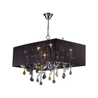 PLC Lighting Torcello 8 Light Chandelier in Polished Chrome 34118-PC photo thumbnail