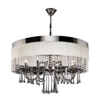 Elisa 8 Light 32 inch Black Chrome Chandelier Ceiling Light