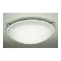 PLC Lighting Nuova 1 Light Ceiling Light in White 3453WH126GU24