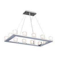 PLC Lighting Glacier Pendant in Polished Chrome with Frost Glass 3488-PC