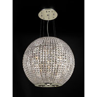 PLC Lighting Cabaret Chandelier in Polished Chrome with Clear Glass 3535-PC