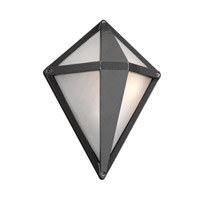PLC Lighting Aeros Outdoor Wall Sconce in Bronze with Frost Glass 3604/CFL-BZ
