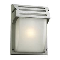 PLC Lighting Moser Outdoor Wall Sconce in Silver with Frost Glass 3607-SL