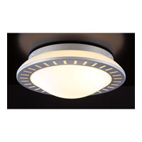 PLC Lighting Elis Flush Mount in Aluminum with Matte Opal Glass 36632-AL