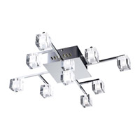 PLC Lighting Doro 9 Light Flush Mount in Polished Chrome 36652-PC