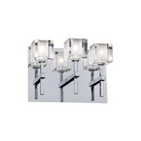 PLC Lighting Doro Sconce in Polished Chrome with Clear Glass 36654-PC