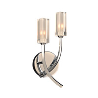 PLC Lighting Mibo 2 Light Wall Sconce in Polished Chrome 36668PC