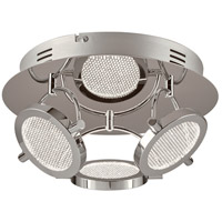 PLC Lighting 40006PC Ariella LED 12 inch Polished Chrome Flush Mount Ceiling Light