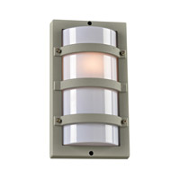 PLC Lighting Spa 1 Light Outdoor Wall Light in Silver 4040SL