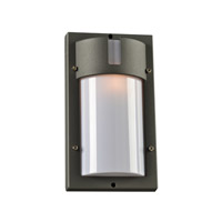 PLC Lighting Jedi 1 Light Outdoor Wall Light in Bronze 4042BZ