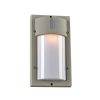 PLC Lighting Jedi 1 Light Outdoor Wall Light in Silver 4042SL