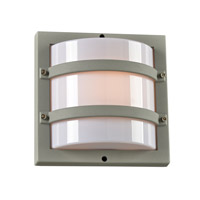 PLC Lighting Spa 1 Light Outdoor Wall Light in SIlver 4044SL