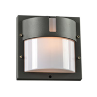 PLC Lighting Jedi 1 Light Outdoor Wall Light in Bronze 4046BZ