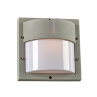 PLC Lighting Jedi 1 Light Outdoor Wall Light in Silver 4046SL