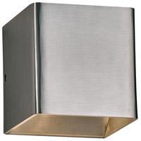 PLC Lighting 4073BA Gauss LED 5 inch Brushed Aluminum Outdoor Wall Light