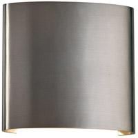 PLC Lighting 4075BA Leena LED 7 inch Brushed Aluminum Outdoor Wall Light