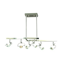 PLC Lighting Focus 6 Light Wall Sconce in Satin Nickel 5356SN