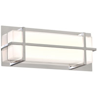 PLC Lighting 55012PC Brooklan LED 15 inch Polished Chrome Vanity Light Wall Light Small