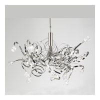 PLC Lighting Ribbon Chandelier in Satin Nickel with Clear Glass 6046-SN