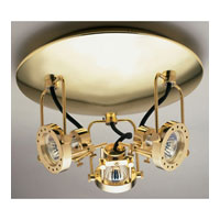 PLC Lighting Sport 3 Light Flush Mount in Polished Brass 6113-PB