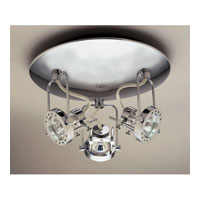 PLC Lighting Sport 3 Light Flush Mount in Satin Nickel 6113-SN