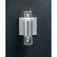 PLC Lighting Zurich Sconce in Aluminum with Clear Glass 6126-AL