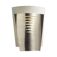 PLC Lighting Daya Sconce in Satin Nickel with Acid Frost Glass 6421-SN