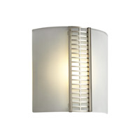 PLC Lighting Mohini Sconce in Satin Nickel with Acid Frost Glass 6424-SN