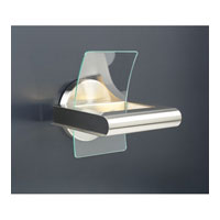 PLC Lighting Patrick Sconce in Satin Nickel with Clear Glass 6443-SN