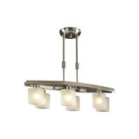 PLC Lighting Wyndham Pendant in Satin Nickel with Frost Glass 649-SN