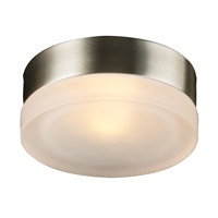 PLC Lighting Metz Wall/Ceiling in Satin Nickel with Frost Glass 6571-SN