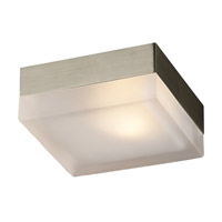PLC Lighting Praha Wall/Ceiling in Satin Nickel with Frost Glass 6573-SN