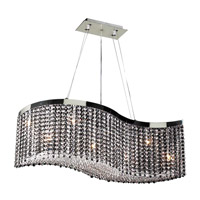 PLC Lighting Clavius I 8 Light Chandelier in Polished Chrome 66010-CLEAR/PC