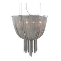 PLC Lighting Formae 4 Light Chandelier in Satin Nickel 70013-SN