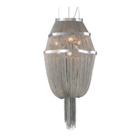 PLC Lighting Formae 6 Light Chandelier in Satin Nickel 70015-SN