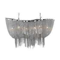 Formae 6 Light 47 inch Satin Nickel Chandelier Ceiling Light
