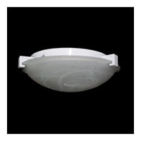 PLC Lighting Nuova Flush Mount in White with Marbleized Glass 7012-WH